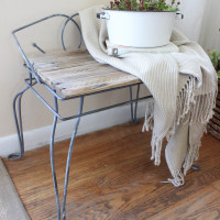 Entryway Bench – Before and After