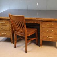 Antique Office Desk Makeover
