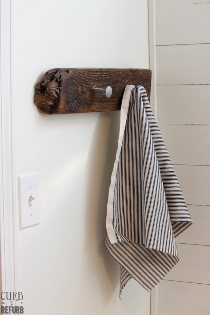 how to make your own towel hanger using driftwood