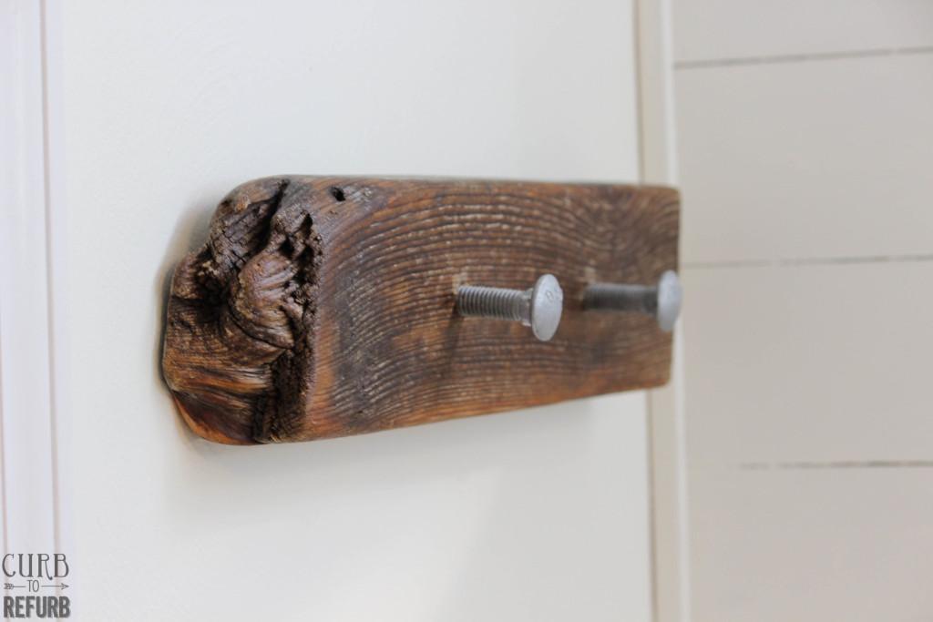 diy driftwood towel hanger