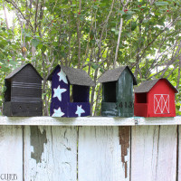 Pallet Bird Feeders