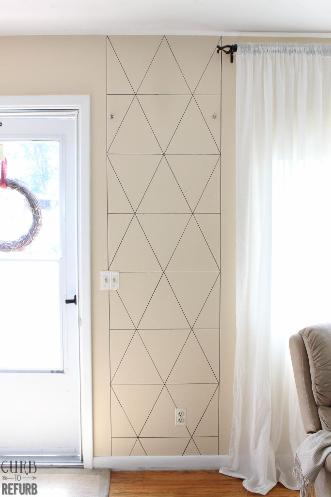 stencil - wall - entryway - makeover