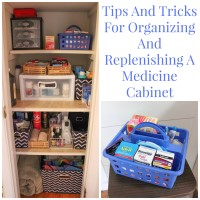 Tips And Tricks For Organizing And Replenishing A Medicine Cabinet