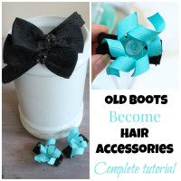 Old Boots Become Hair Accessories