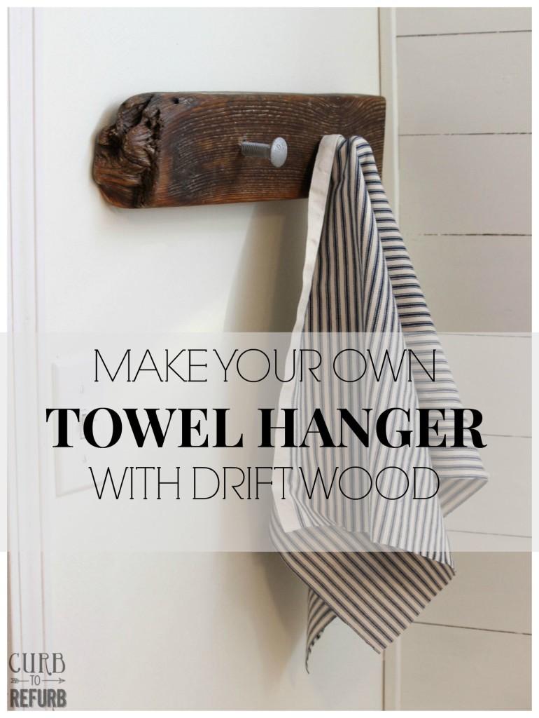 driftwood towel hanger