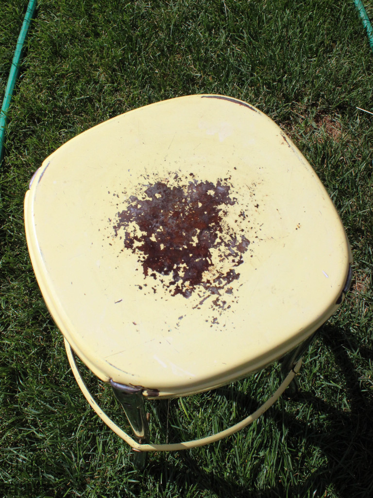 stool after using rust inhibitor