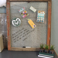 Antique Window Becomes Office Memo Board