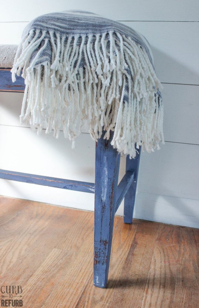 distressed bench legs