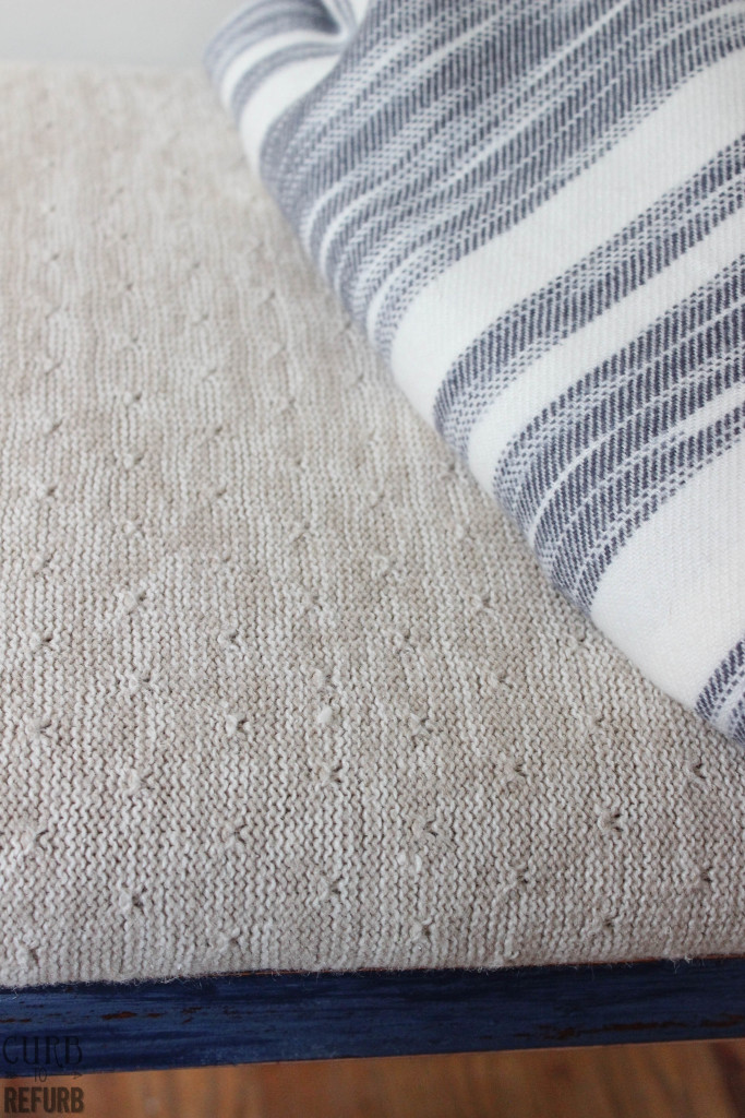 sweater - bench - upholstery