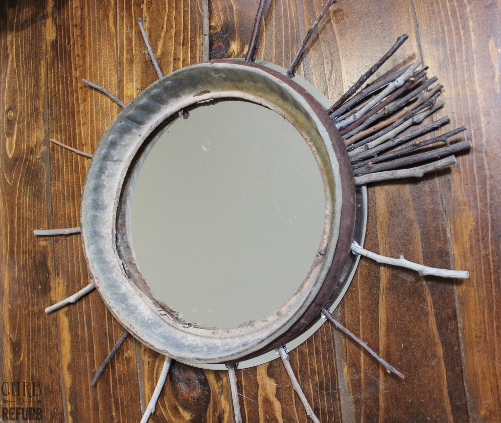 how to make a twig mirror