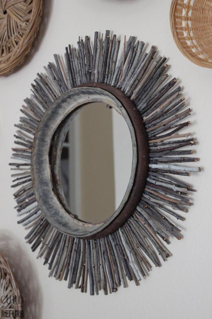 DIY - twig - mirror