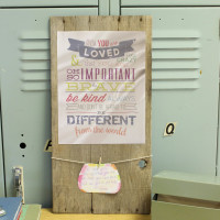 DIY Wooden Sign With Life Changing Words