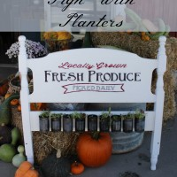 Painted Headboard Sign With Planters