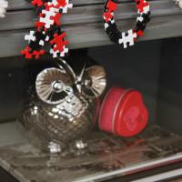 Puzzle Art Valentines Garland