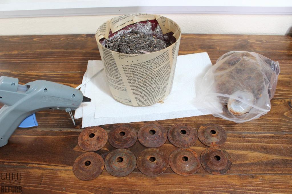 junk revision challenge flower pot