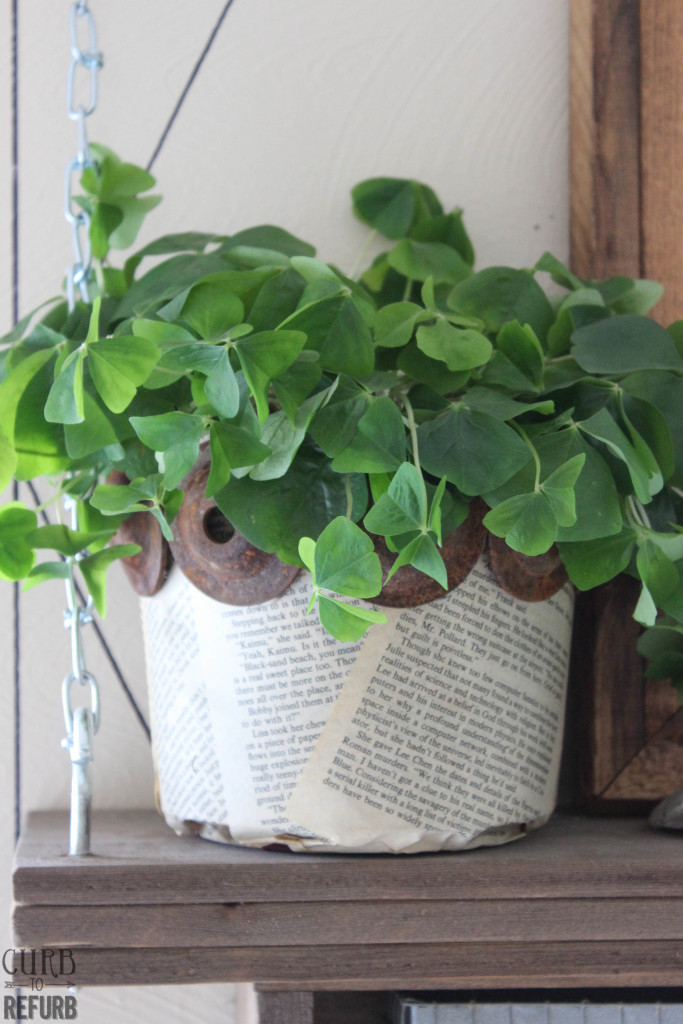 book page flower pot