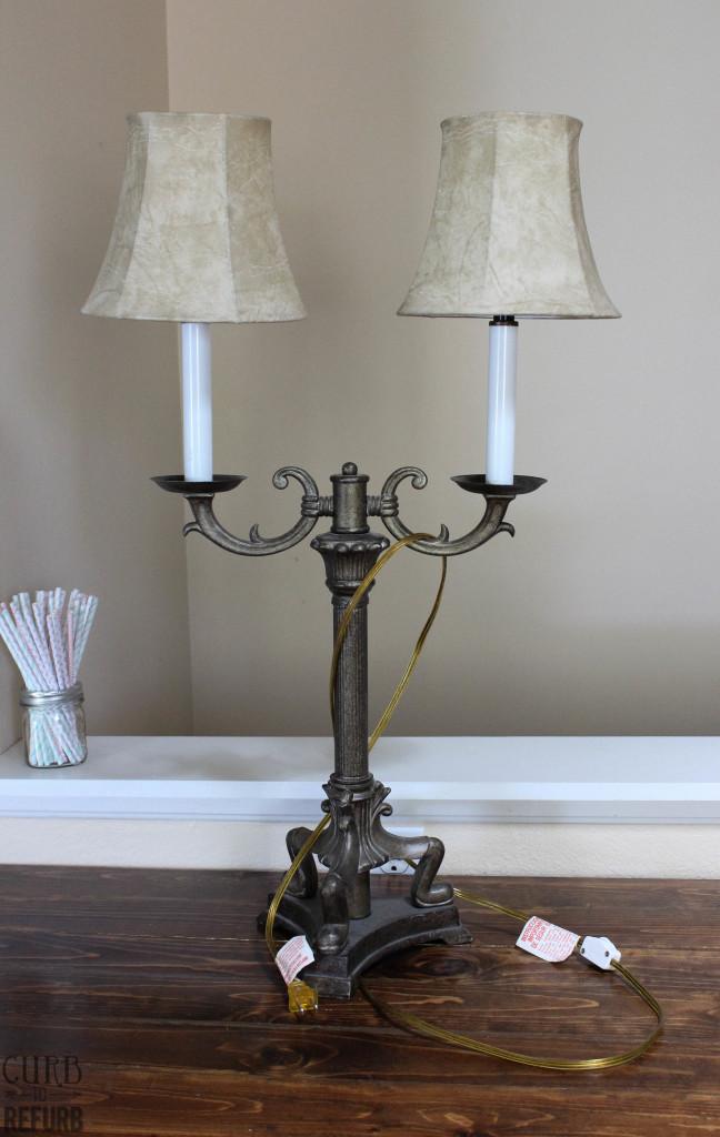 re-purposed lamp
