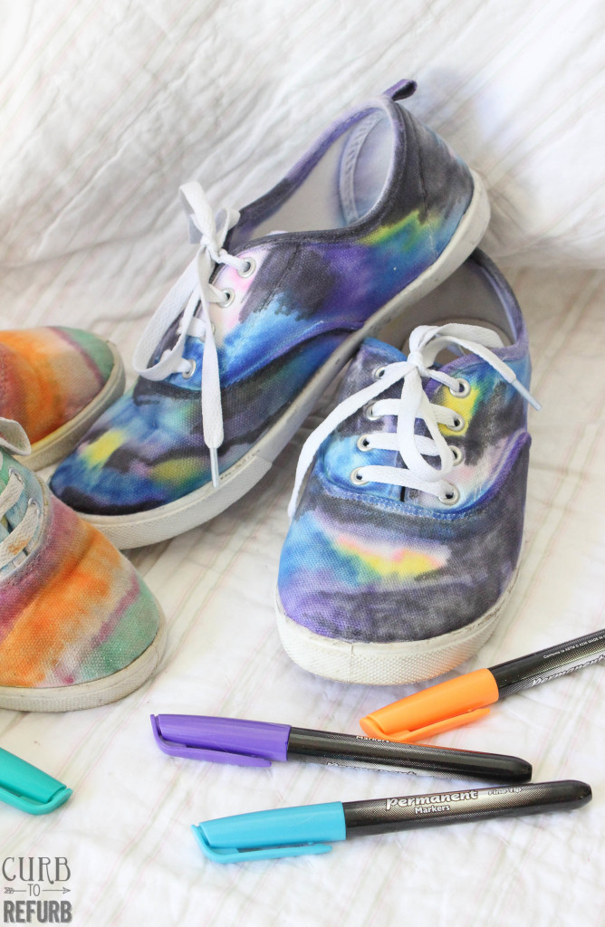 how to color shoes with sharpies