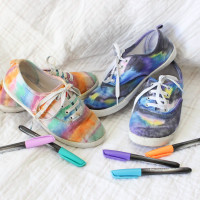 Coloring Shoes With Sharpies