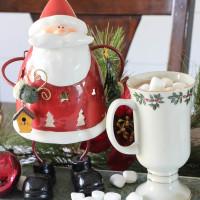 Christmas Hot Chocolate Bar And Tile Trivet